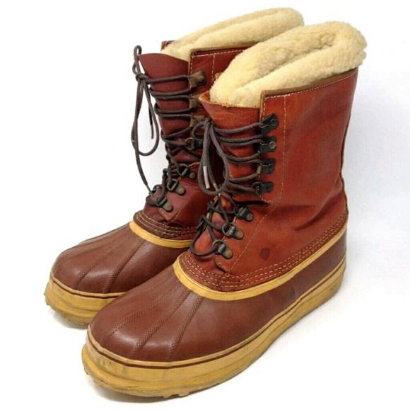 30cadfcd47ec1 Sorel Vtg Kaufman Champion Duck Boots 12